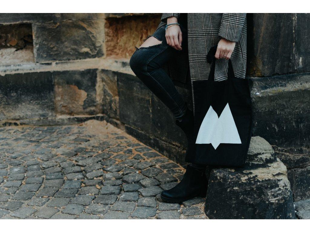 Plátěná taška černá – logo