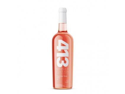 413 Rose Wine Bottle Mockup 600x600