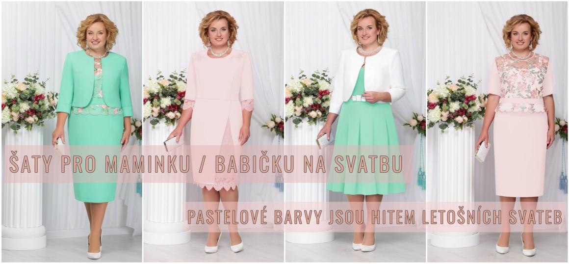 Šaty v pastelových barvách pro svatební matky
