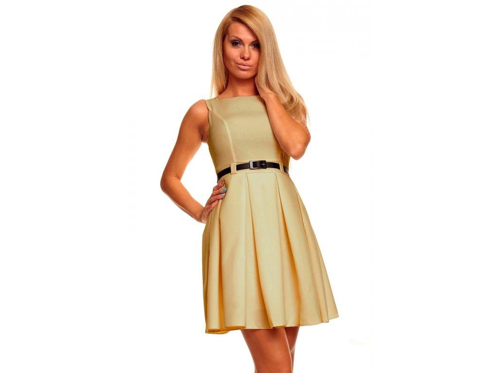 Společenské šaty Tessy béžové - Levné společenské a plesové šaty ... 5b5ca72e8e