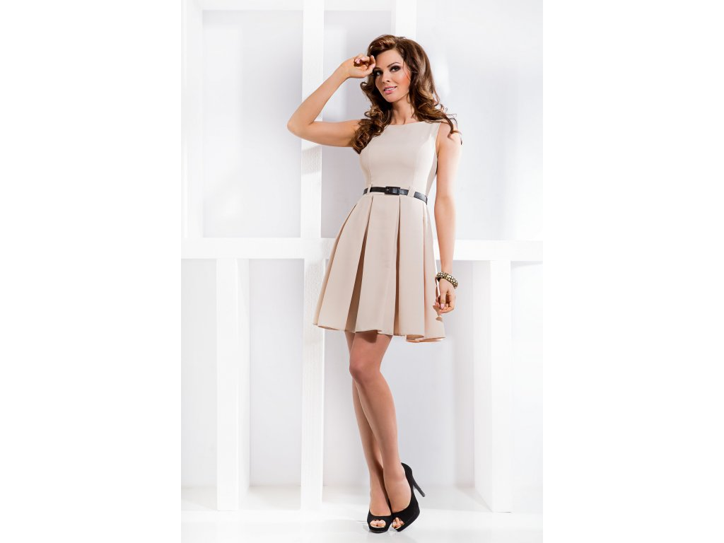 Společenské šaty Tessy II béžové - Levné společenské a plesové šaty ... eb6a1bad24