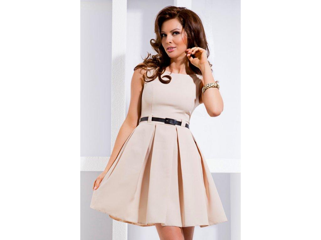 f63a11257f8a Společenské šaty Tessy II béžové - Levné společenské a plesové šaty ...