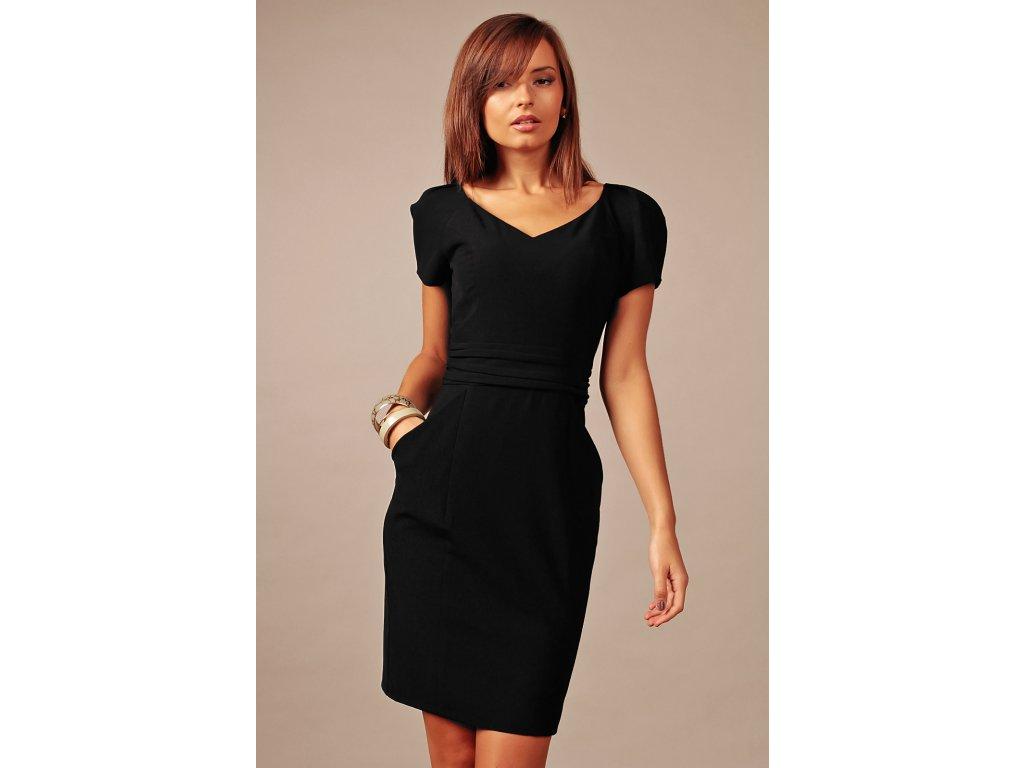 da10d68ce6b3 Společenské šaty pro plnoštíhlé Gina černé - Levné společenské a ...