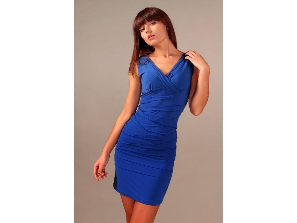 812142b1321 Společenské šaty pro plnoštíhlé Vera modré - Levné společenské a ...