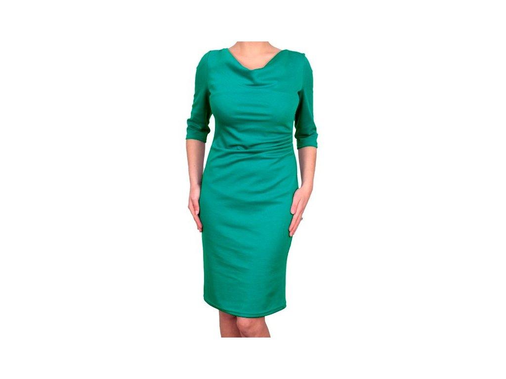 Společenské šaty Camilla modrozelené - Levné společenské a plesové ... 6c13866bf7