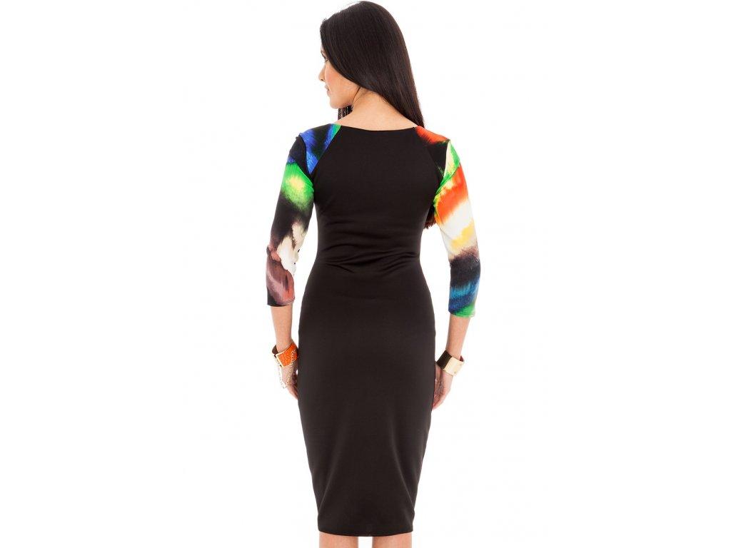 6019d9b71fc Společenské šaty Madie černé se vzorem - Levné společenské a plesové ...