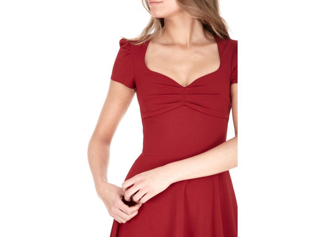 Společenské šaty Darnell vínově červené zezadu Společenské šaty Darnell  vínově červené detail 886e78c969