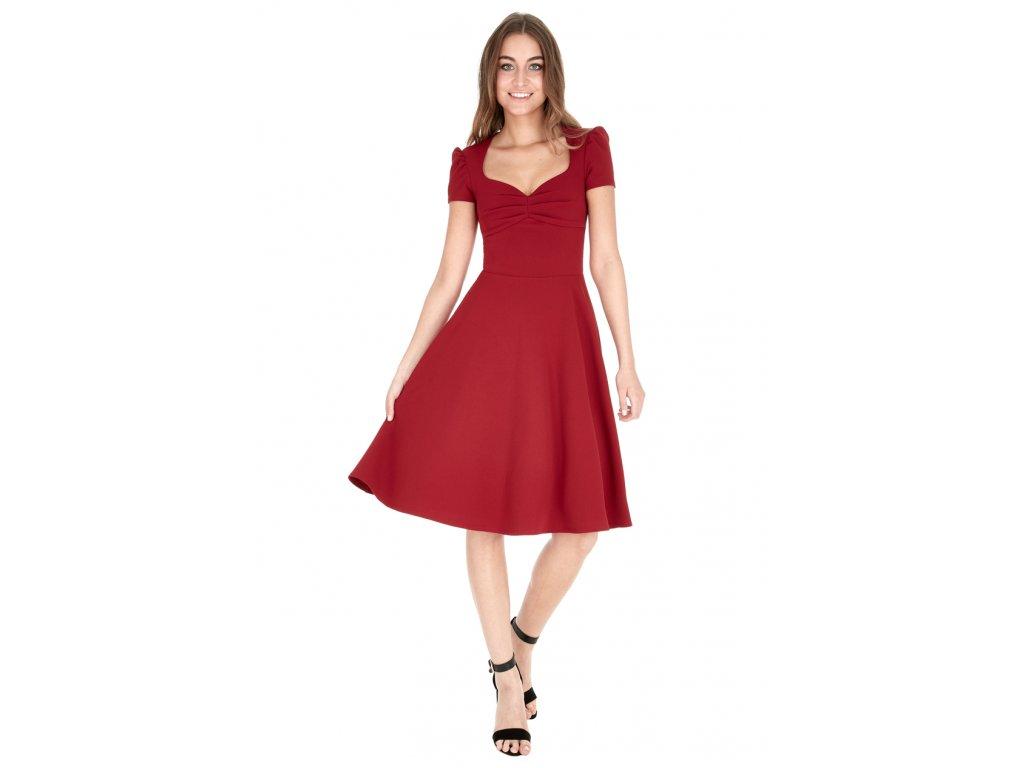 Společenské šaty Darnell vínově červené - Levné společenské a ... 43bf81a65b