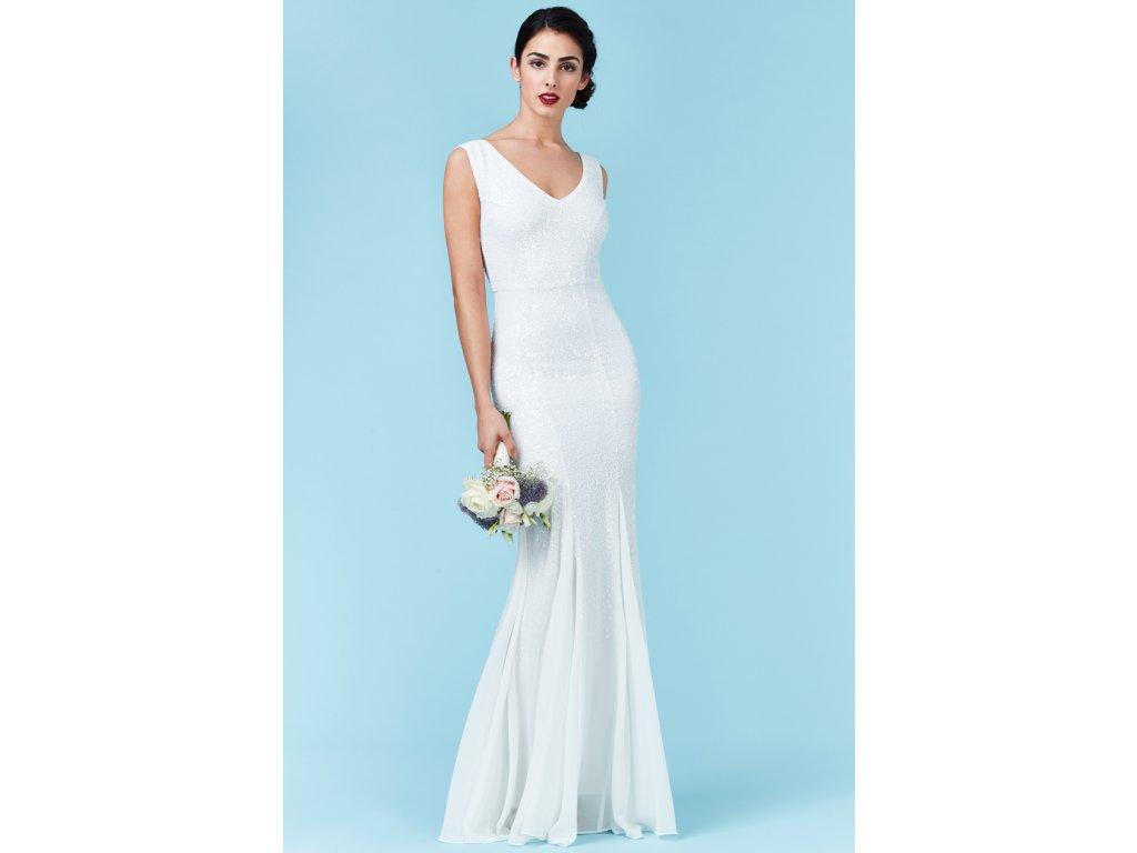 6a35ec178b8 Luxusní svatební šaty Petronilla bílé - Levné společenské a plesové ...
