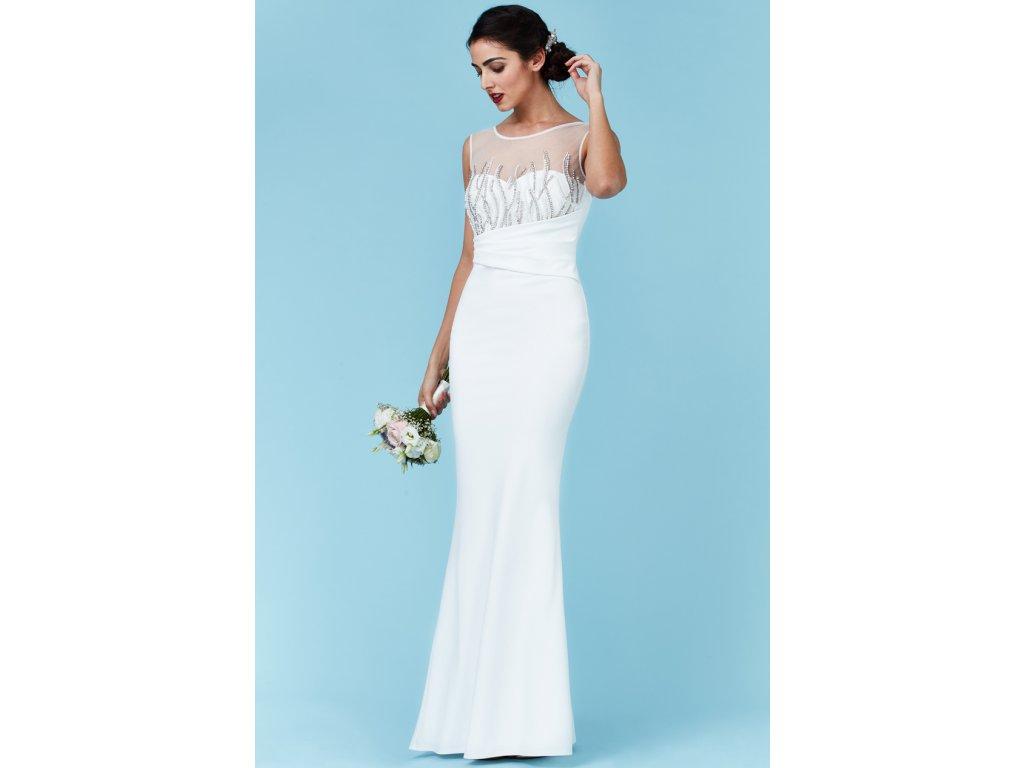 b678ede1fb5 Luxusní svatební šaty pro plnoštíhlé Vernetta bílé - Levné ...