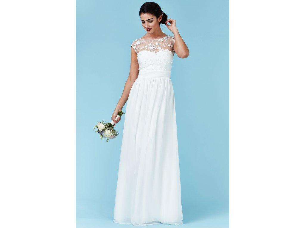 Luxusní svatební šaty pro plnoštíhlé Floretta bílé - Levné ... 97a3095424