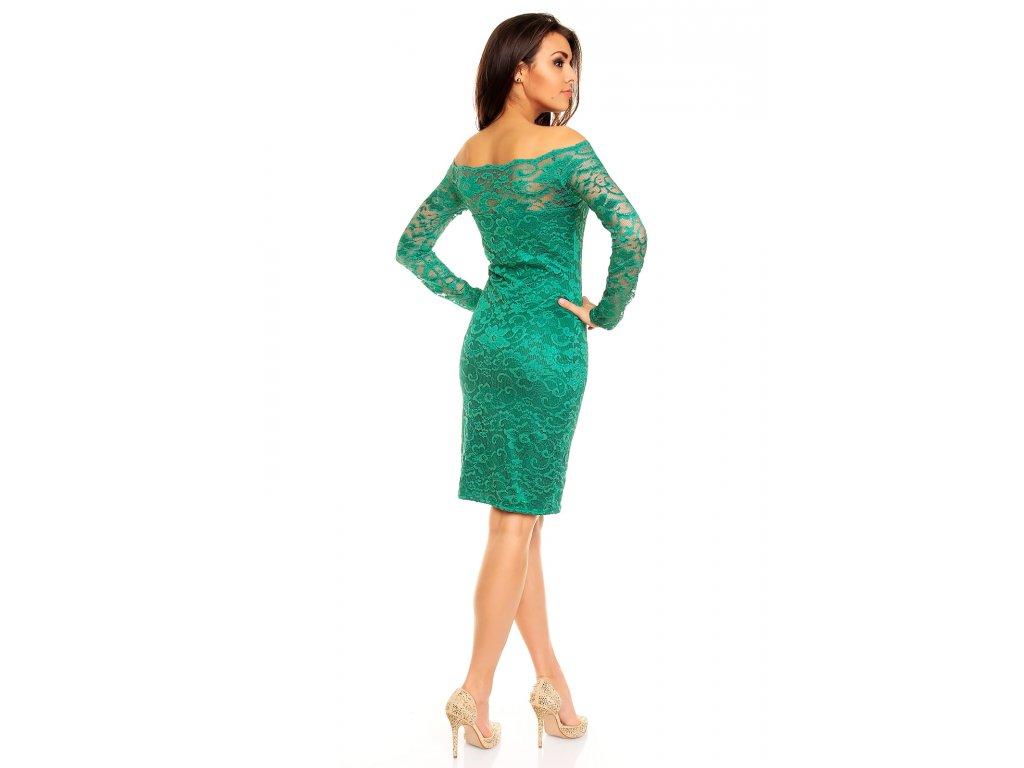571f2f01014 Plesové šaty Evelyn smaragdově zelené s krajkou - Levné společenské ...