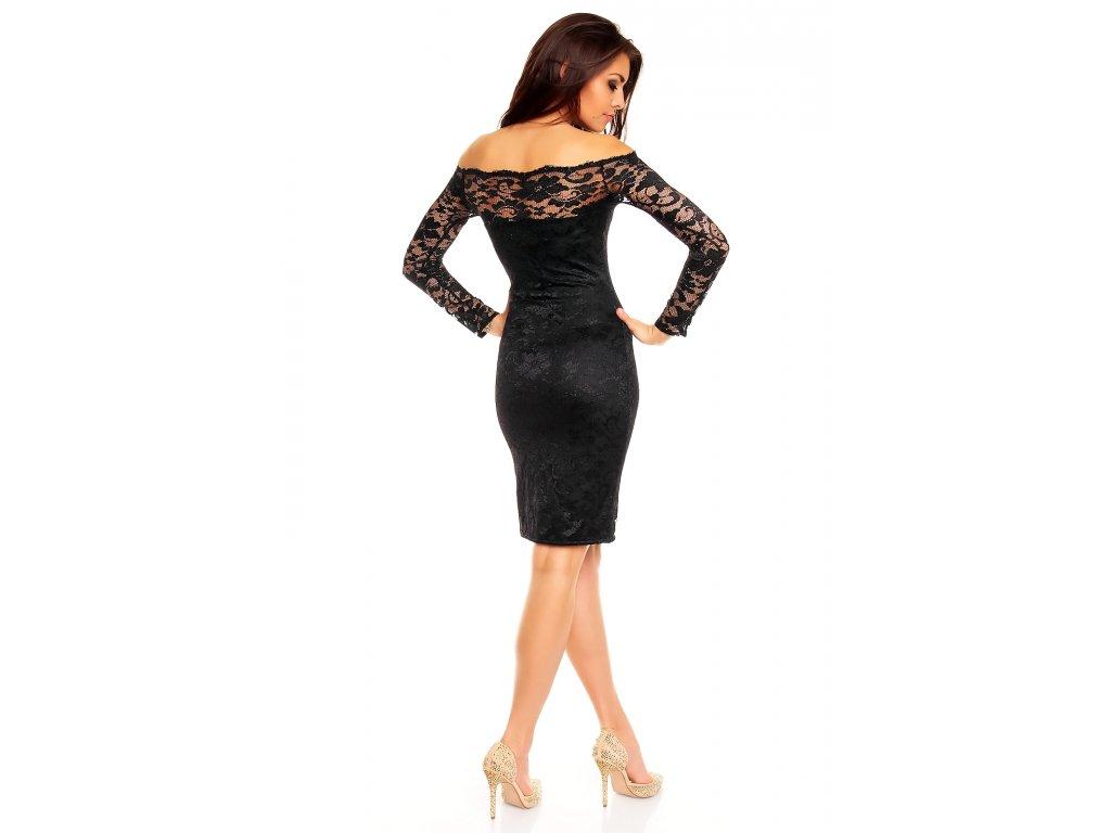 650e75f4349 Plesové šaty Evelyn černé s krajkou - Levné společenské a plesové ...