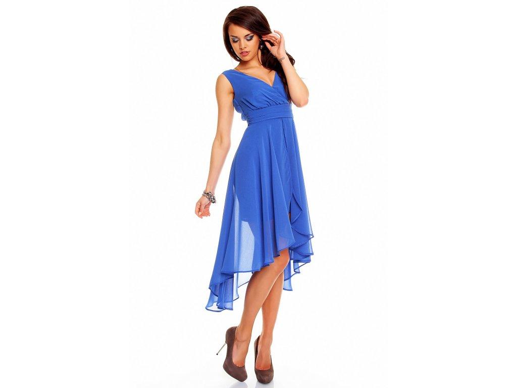c458e268635 Plesové šaty Rosetta modré - Levné společenské a plesové šaty ...