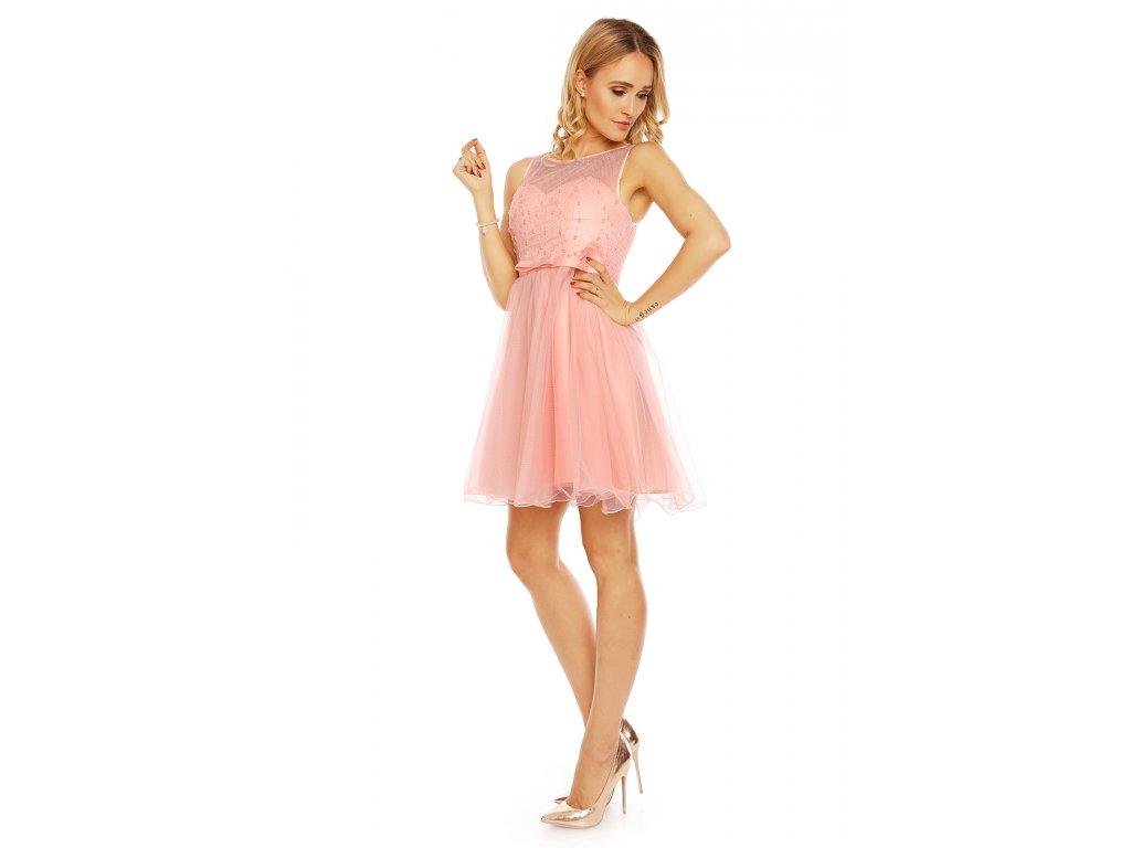 4f5f038825f Společenské šaty Karen světle růžové náhled Společenské šaty Karen světle  růžové náhled zboku ...