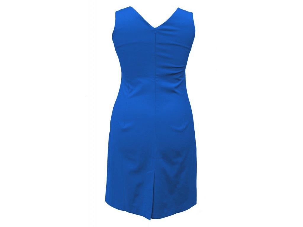 dac509189e6 ... Společenské šaty pro plnoštíhlé Jacklyn černo-modré zezadu 2
