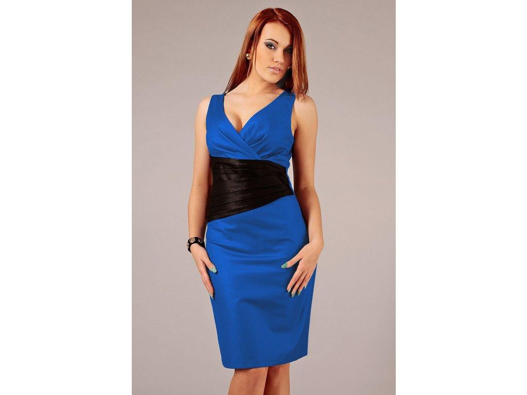 2062c82c594 Společenské šaty pro plnoštíhlé Jacklyn černo-modré - Levné ...