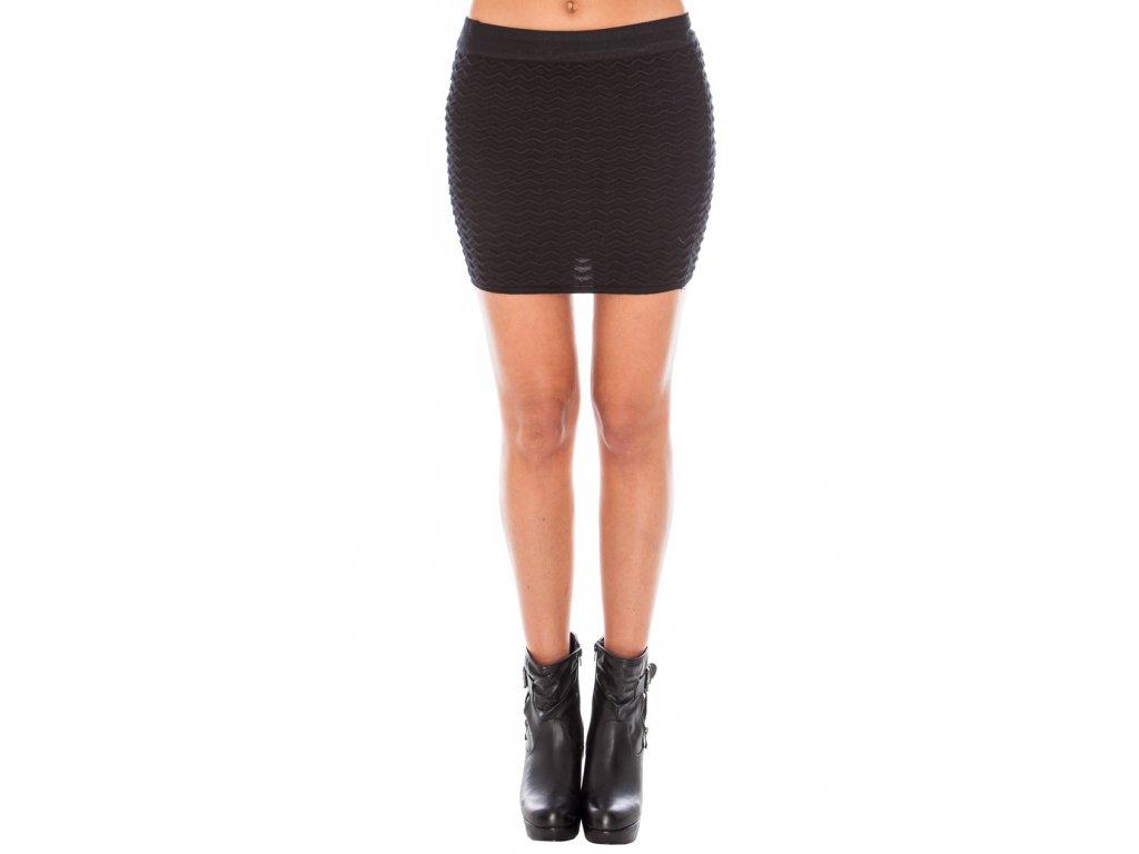 656a820a8153 Sukně černá vzor vlnky - Levné společenské a plesové šaty