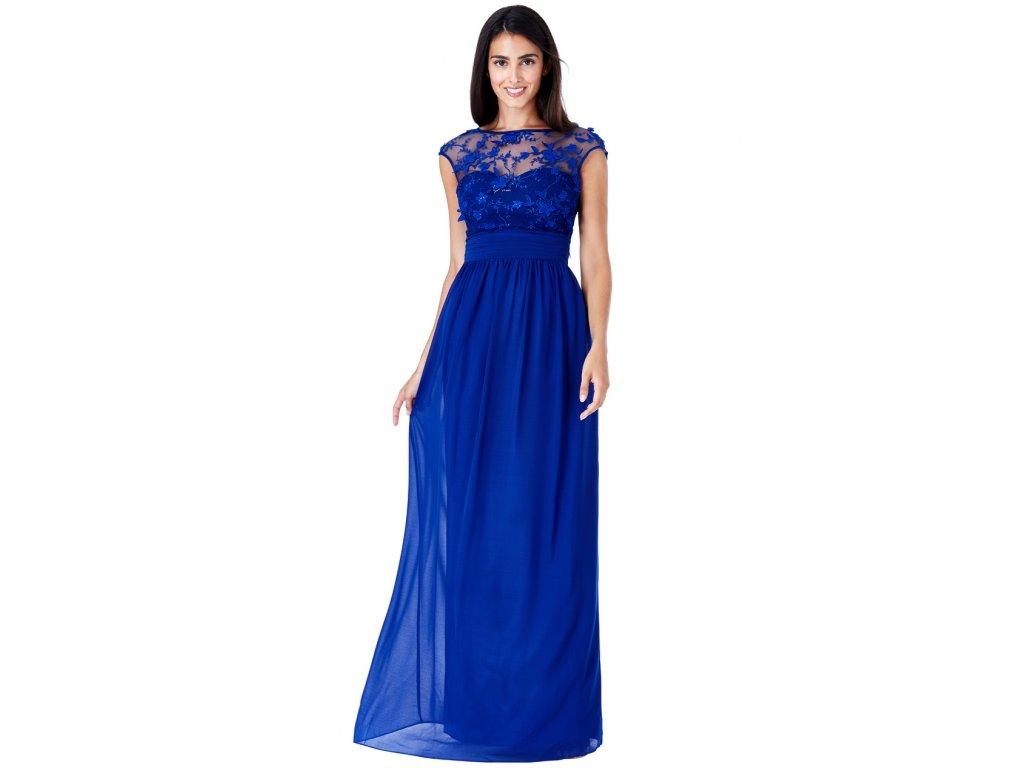 Luxusní společenské šaty Floretta modré - Levné společenské a ... a50338ed98