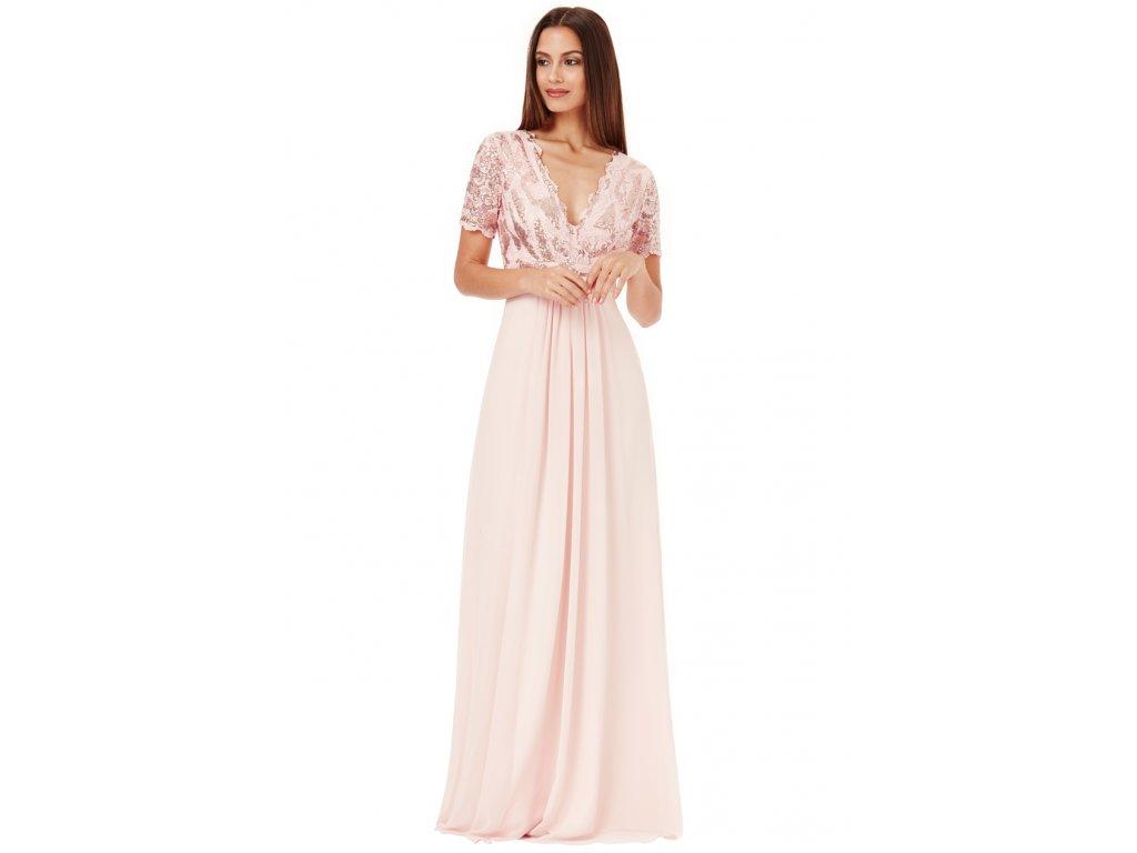 336e128a9bb7 Luxusní společenské šaty pro plnoštíhlé Tiffanie pudrové - Levné ...