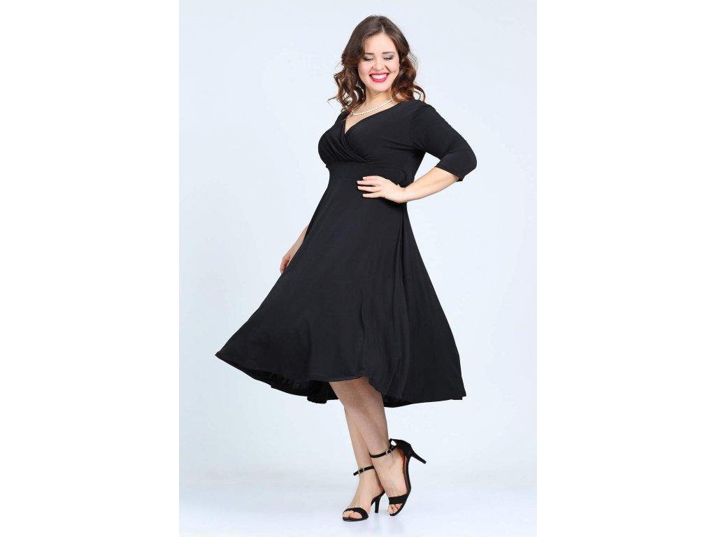 Společenské šaty pro plnoštíhlé Cassidy černé - Levné společenské a ... 03e3e43e1b