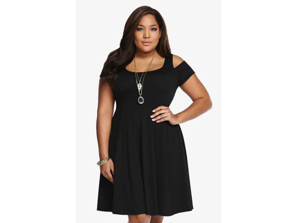 Společenské šaty pro plnoštíhlé Tanja černé