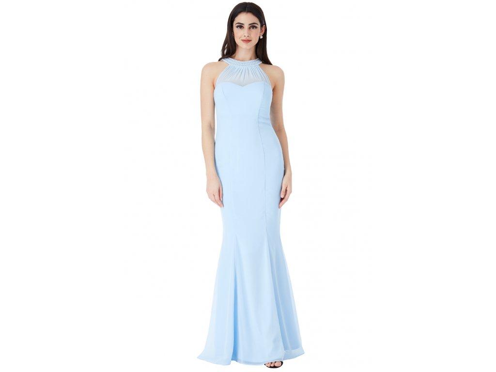 Dlouhé plesové šaty Florida světle modré - Levné společenské a ... 84b6c861ec4
