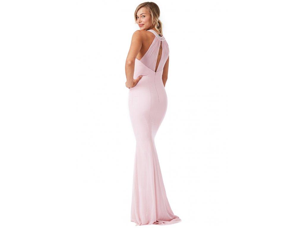 13ca8aca9192 Dlouhé plesové šaty Florida světle růžové - Levné společenské a ...