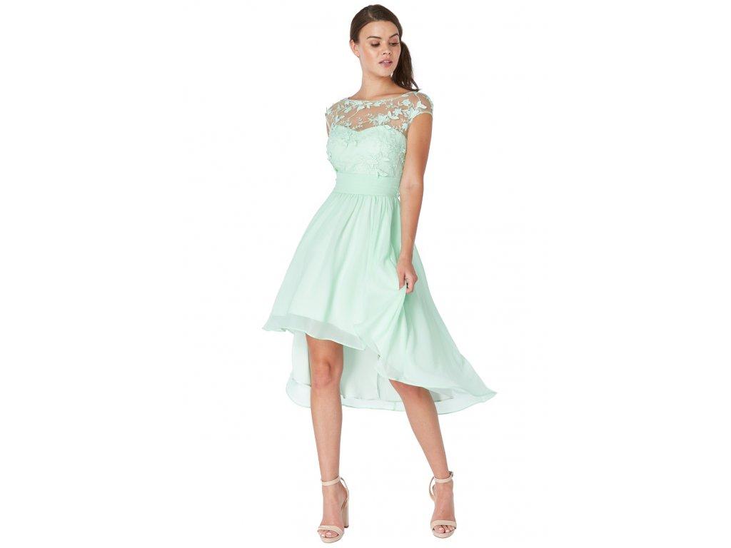 dddb839cc75b Luxusní společenské šaty pro plnoštíhlé Floretta III mentolové ...