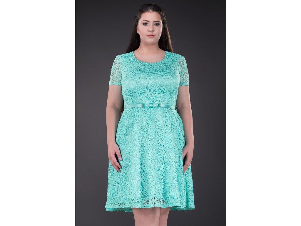 2131eb870c61 Společenské šaty Amber mentolové - Levné společenské a plesové šaty ...
