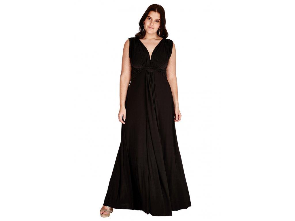 Plesové šaty pro plnoštíhlé Domenica černé dlouhé - Levné ... 2f5c9ab49a