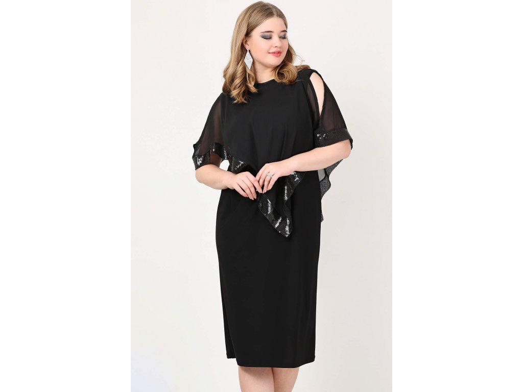 Společenské šaty pro plnoštíhlé Cassandra II černé - Levné ... e13a57cf1d
