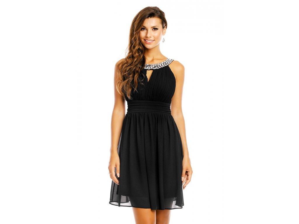 2f51a67fefd Společenské šaty Areanna černé - Levné společenské a plesové šaty ...