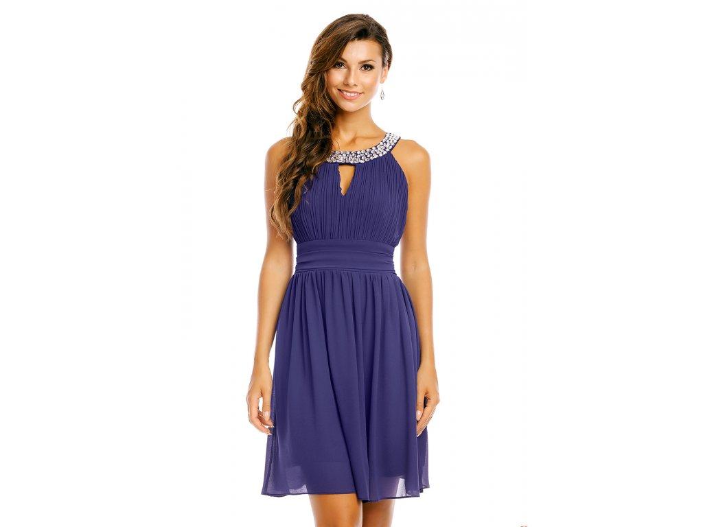 19f186ff977 Společenské šaty Areanna tmavě modré - Levné společenské a plesové ...