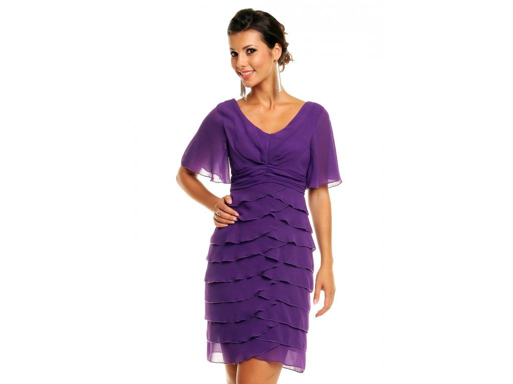 d007e554a791 Koktejlové šaty Debbie fialové - Levné společenské a plesové šaty ...