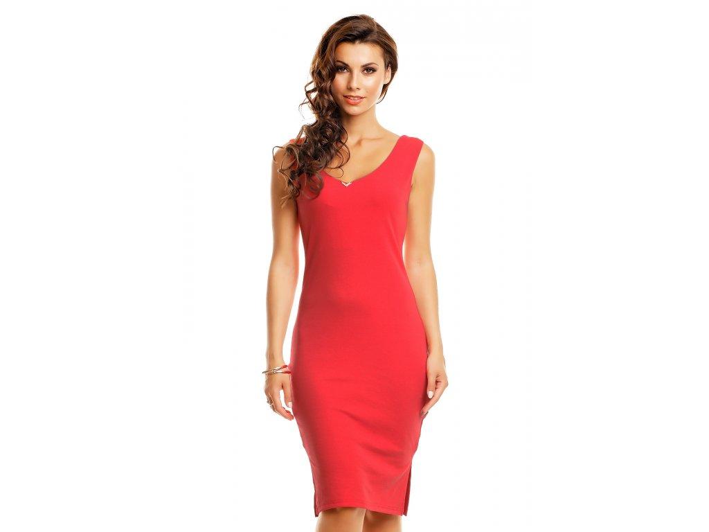 Koktejlové šaty Rosy červené - Levné společenské a plesové šaty ... 94dde9fbfd