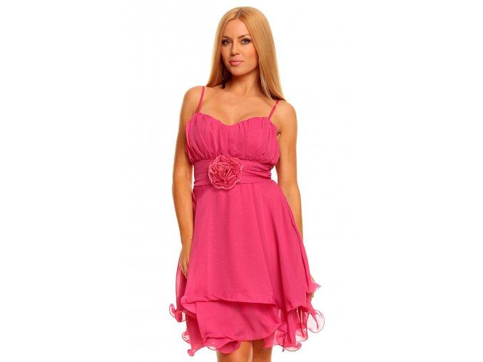 Společenské šaty Margie růžové