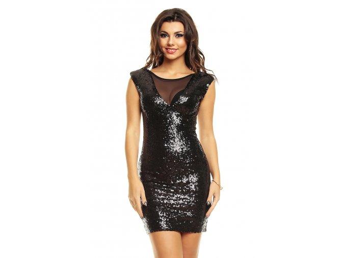 Společenské šaty Lucretia černé