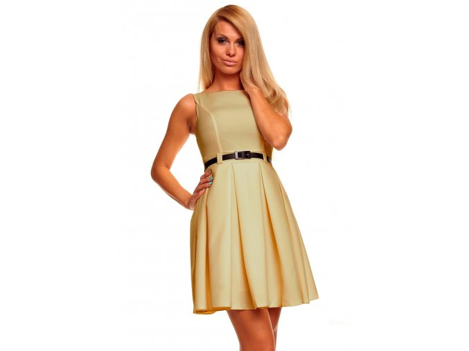 Společenské šaty Tessy béžové