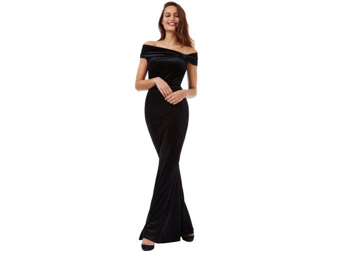 Plesové sametové šaty Doretta černé
