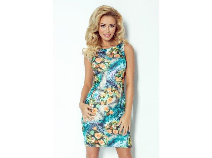 Šaty Meg vzor květy I