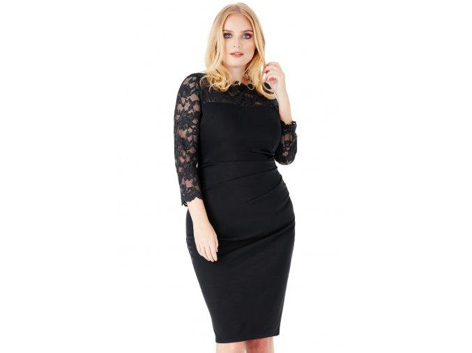 Společenské šaty pro plnoštíhlé Queen černé