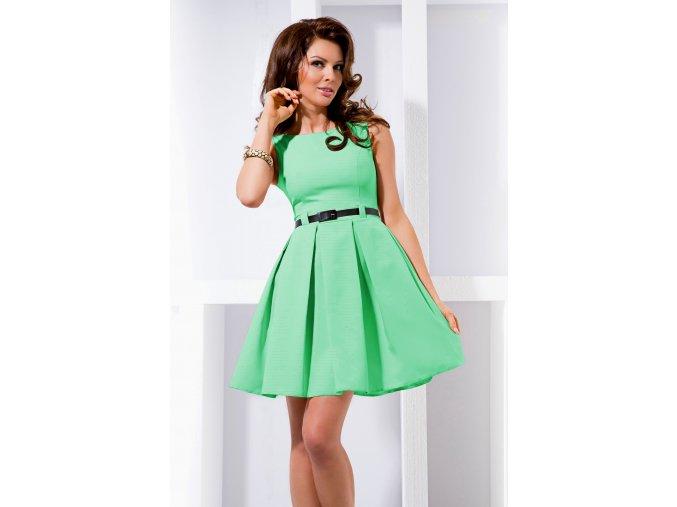 Společenské šaty pro plnoštíhlé Tessy II mentolové