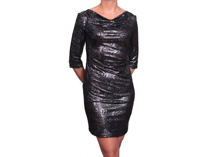 Společenské šaty Verona II černostříbrné