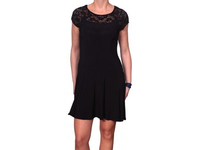 Společenské šaty pro plnoštíhlé Lily černé