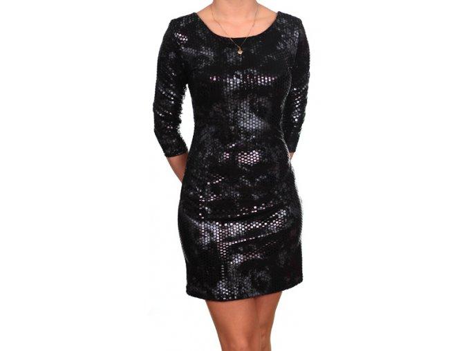 Společenské šaty pro plnoštíhlé Irene černé