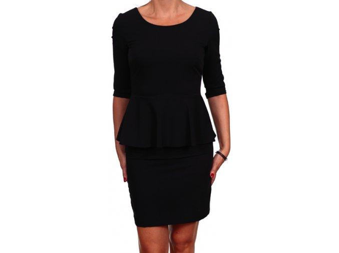 Společenské šaty pro plnoštíhlé Tarah černé