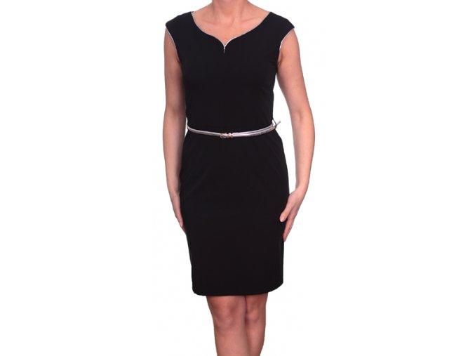 Společenské šaty pro plnoštíhlé Salome černé
