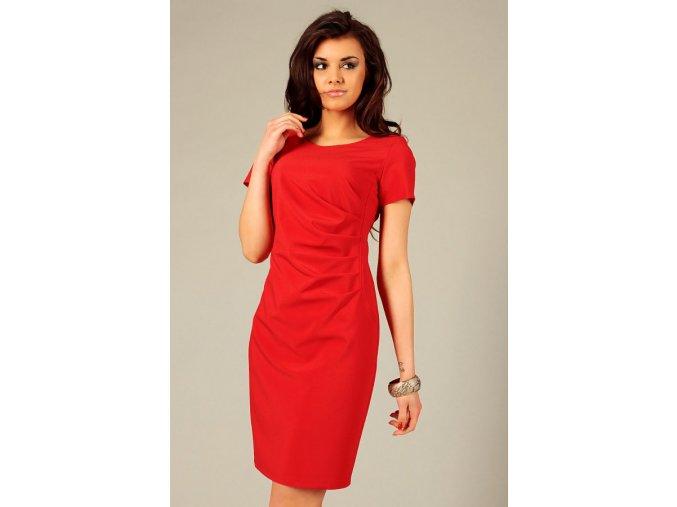 Společenské šaty pro plnoštíhlé Flavia červené