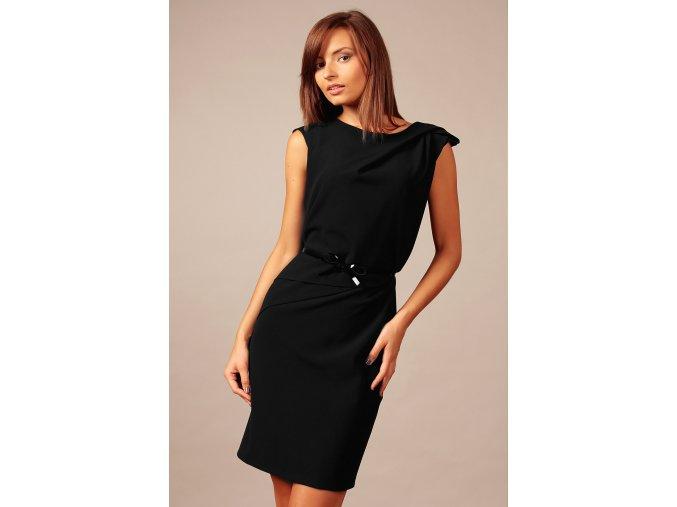 Společenské šaty pro plnoštíhlé Amada černé